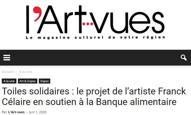 Toiles solidaires : le projet de l'artiste Franck Célaire en soutien à la Banque alimentaire