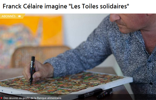 Franck Célaire imagine « Les Toiles solidaires »